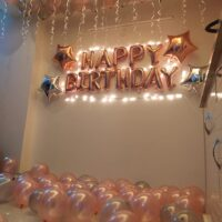 Happy bday decoration with balloons