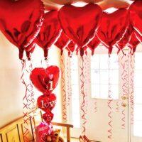 Heart foil balloon for Bday